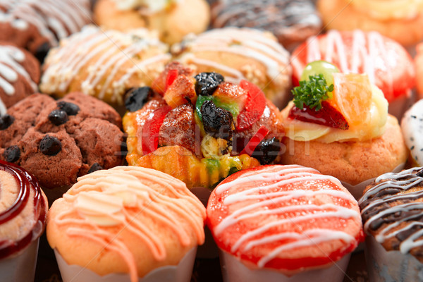 Colorful of tart with variety topping delicious and enjoy your s Stock photo © JohnKasawa