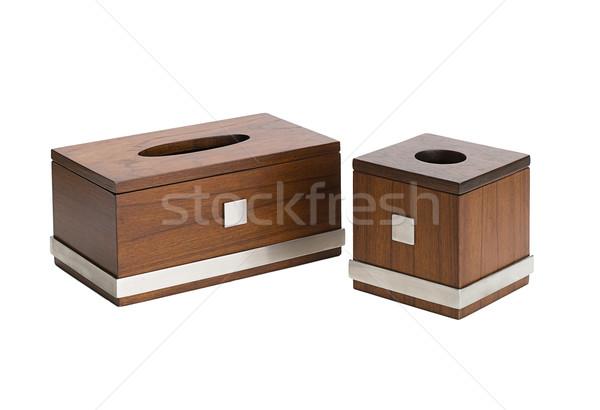 Houten weefsel dozen twee maat nuttig Stockfoto © JohnKasawa