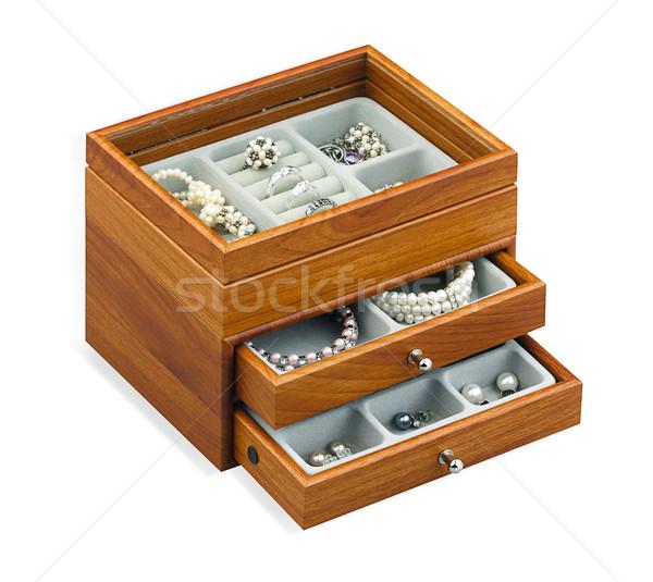 いい 宝石 宝 ボックス 孤立した 白 ストックフォト © JohnKasawa