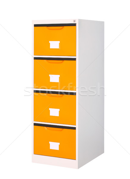 cabinet with 4 drawers if your need orange color this is the rig Stock photo © JohnKasawa