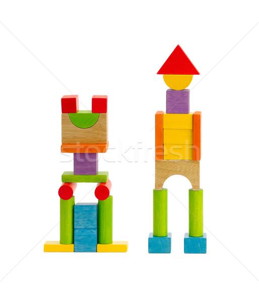 Houten speelgoed robot jeugd kan spelen genieten Stockfoto © JohnKasawa