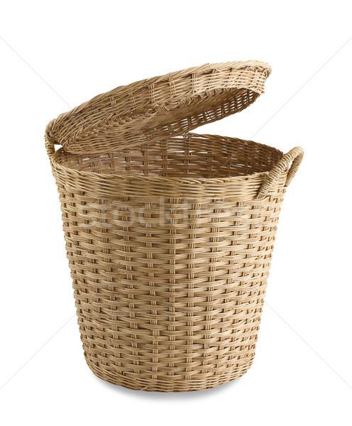 Handicraft rattan basket the old fashioned Thai style isolated  Stock photo © JohnKasawa