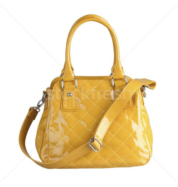Yellow sweet color woman handbag Stock photo © JohnKasawa