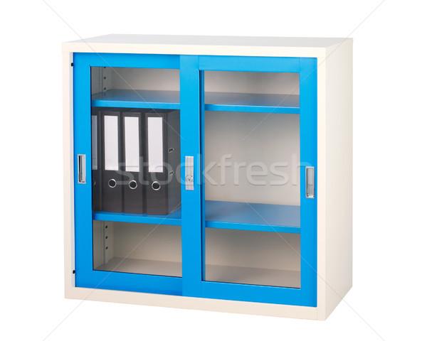 Сток-фото: синий · шкафу · завода · мебель · изолированный · белый