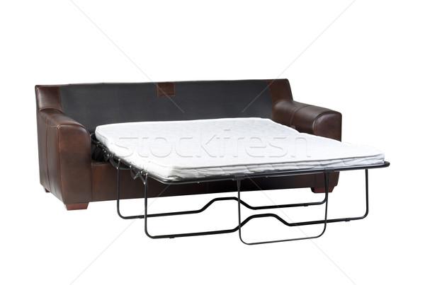 Nice design of the of fold-able sofa bed on white Stock photo © JohnKasawa