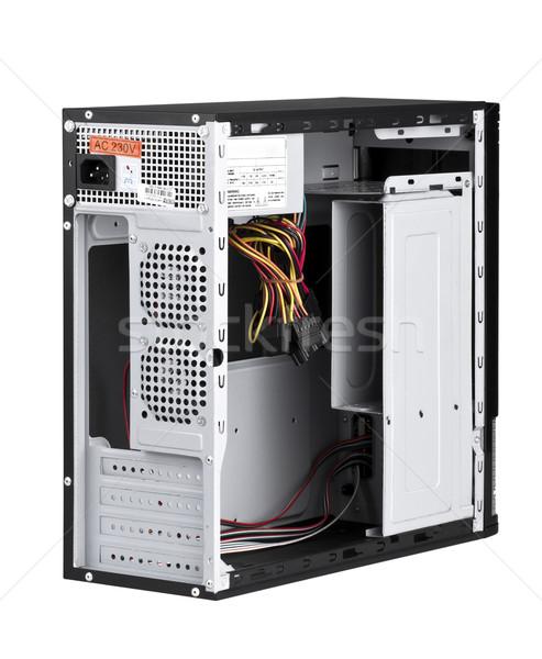 Open computer case isolated on white background Stock photo © JohnKasawa