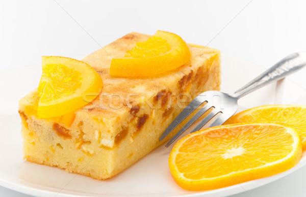 Sweet smell and great taste of the orange cake Stock photo © JohnKasawa