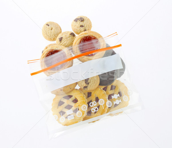 Mix eatable cookies in a safety zipper bag Stock photo © JohnKasawa