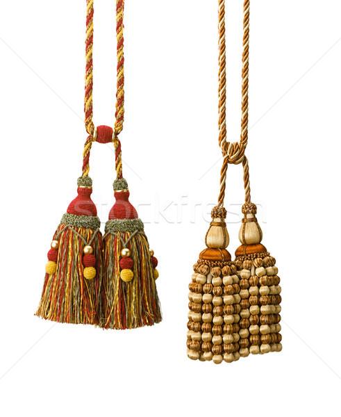 Beauty of handcraft tassels for all drapery decorates  Stock photo © JohnKasawa