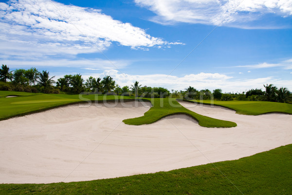 Dear golfer, behind the rough or bunker are happiness and succes Stock photo © JohnKasawa