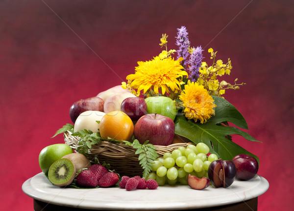 All season fresh fruits in a basket hamper Stock photo © JohnKasawa