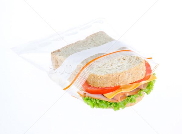 サンドイッチ 新鮮な ジッパー 袋 チーズ ストックフォト © JohnKasawa