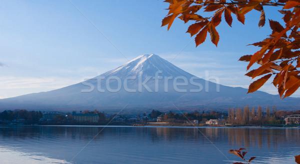 Beauty of the Mt Fuji from the lake Kawaguchi view Stock photo © JohnKasawa