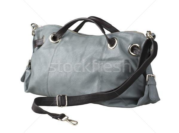 Nice luxury woman leather handbag isolates  Stock photo © JohnKasawa
