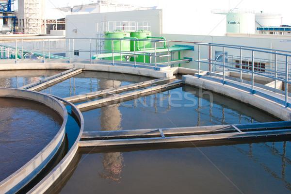 Agua tratamiento residuos limpio piscina Foto stock © JohnKasawa