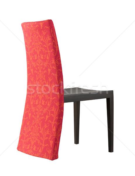 Nice design of the dinning chair made of beautiful fabric flower Stock photo © JohnKasawa