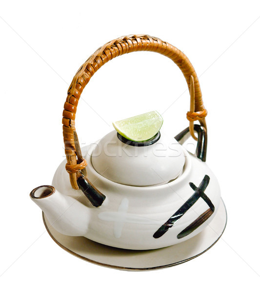Japanese green tea pot on white  Stock photo © JohnKasawa