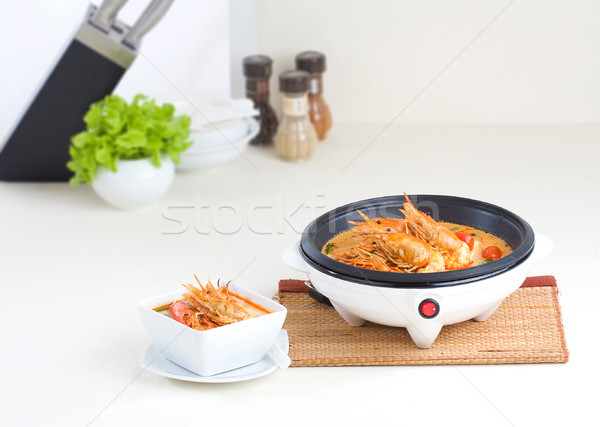 Electric pan for cooking in the kitchen interior  Stock photo © JohnKasawa