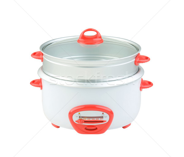 double tray electric steaming pot for cooking food, isolated Stock photo © JohnKasawa
