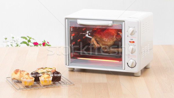 Electric chicken grill or roaster oven fast and convenience to c Stock photo © JohnKasawa