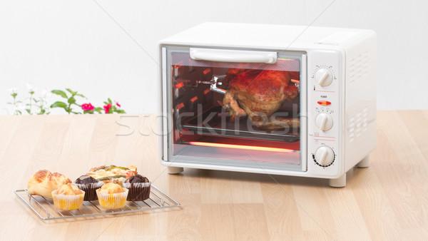 Elektromos tyúk grill sütő gyors kényelmesség Stock fotó © JohnKasawa