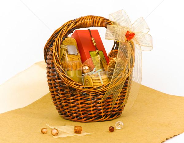 Beautiful cookie gift hamper basket Stock photo © JohnKasawa