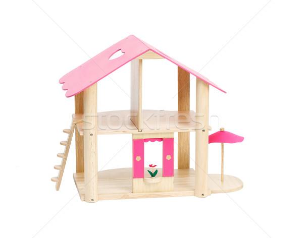 Nice empty dollhouse isolated on white  Stock photo © JohnKasawa