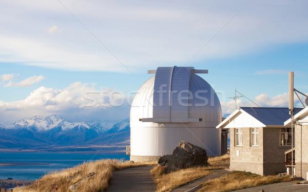 Stock photo: Mount John's Observatory at Mt John in autumn season near Tekapo
