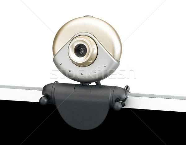 ウェブカメラ 注記 図書 コンピュータ 孤立した インターネット ストックフォト © JohnKasawa