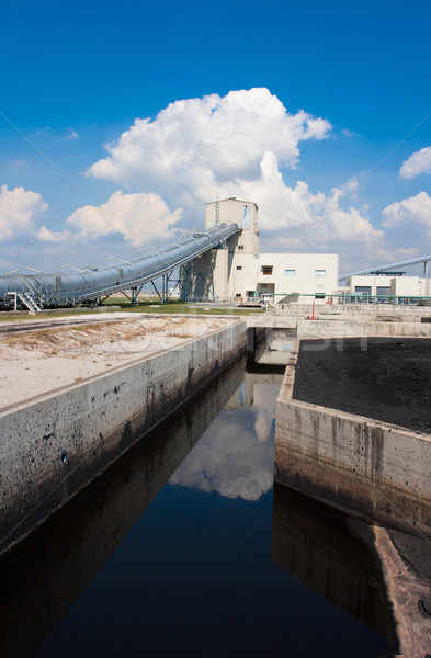 Waste water treatment systems from the factory before draining t Stock photo © JohnKasawa