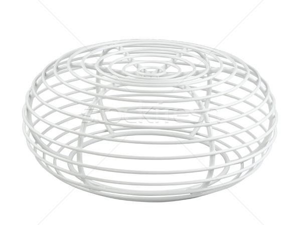 Güzel dizayn çelik dışkı sandalye beyaz Stok fotoğraf © JohnKasawa