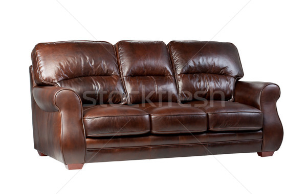 Luxury brown leather sofa the great leather furniture to fit you Stock photo © JohnKasawa