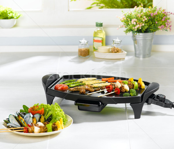 Electric barbecue and grill stove great for your party Stock photo © JohnKasawa