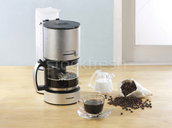 coffee blender and boiler two in one fresh coffee tool Stock photo © JohnKasawa