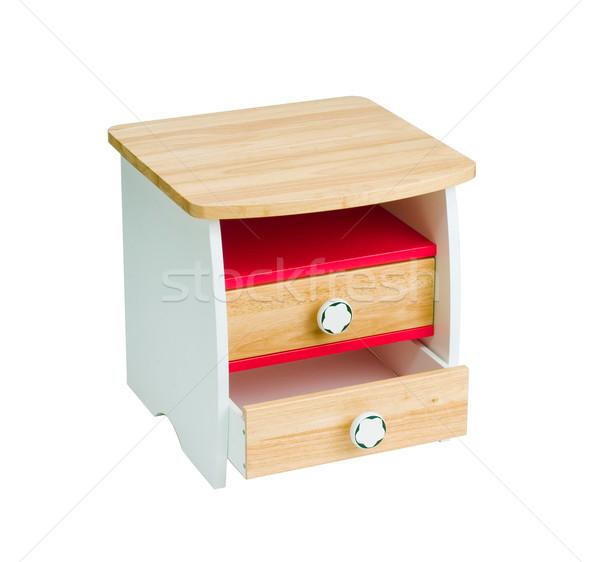 Stock fotó: Gyönyörű · fából · készült · asztal · fiókok · gyerek · fa