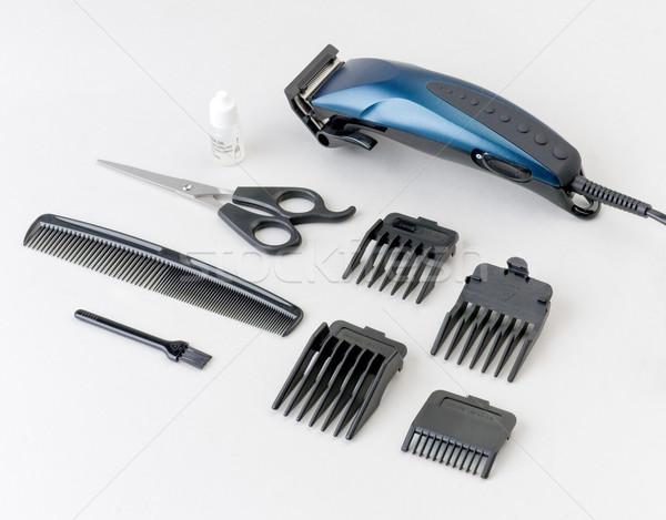 Saç makine bir ayarlamak elektrik fırçalamak Stok fotoğraf © JohnKasawa