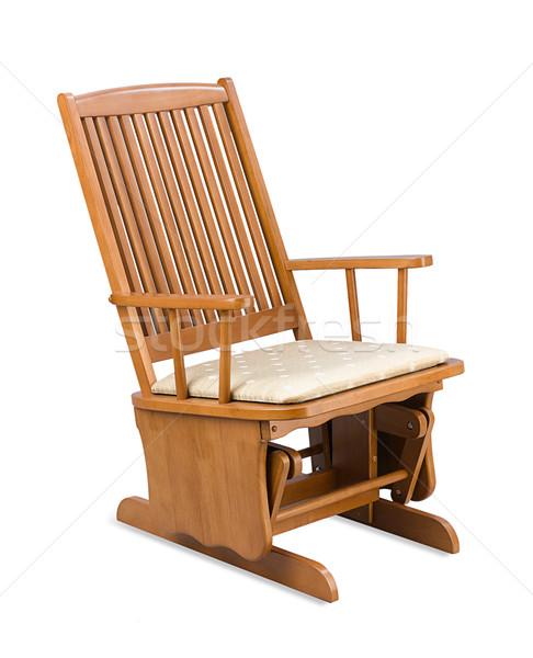 Houten schommelstoel ontspannen dag hout stoel Stockfoto © JohnKasawa