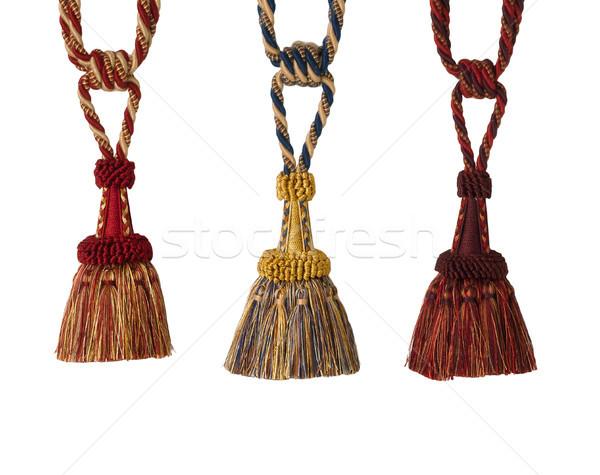 The art of tassels for luxury curtain and drapery Stock photo © JohnKasawa