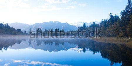 Beautiful autumn at Matheson lake Aoraki Mount Cook National Par Stock photo © JohnKasawa