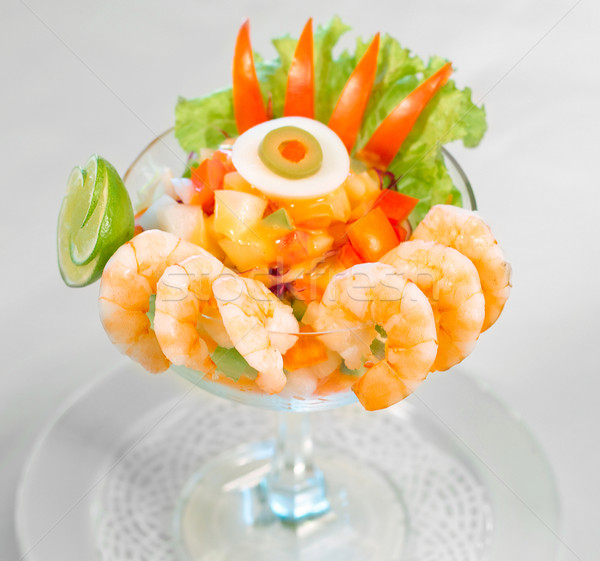 Shrimps arrange and display on glass    Stock photo © JohnKasawa