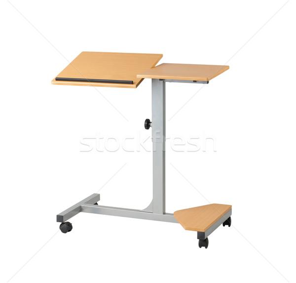 Adjustable laptop computer table isolated on white background  Stock photo © JohnKasawa