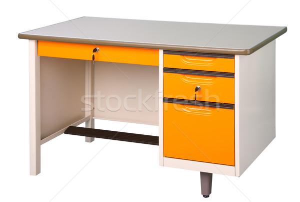 Stainless steel office of factory furniture isolates on white Stock photo © JohnKasawa