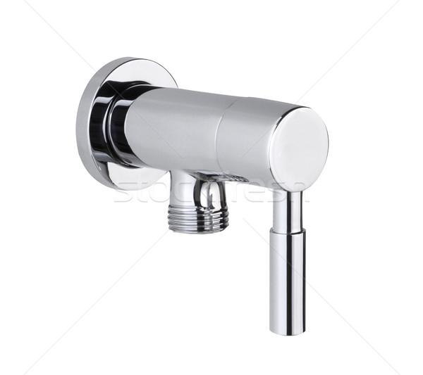 Chrome faucet the bathtub accessories isolated  Stock photo © JohnKasawa