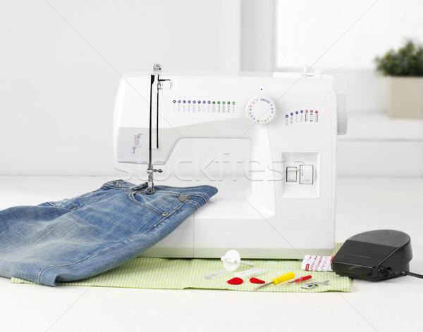 Nice швейные машины инструментом дизайна домой Сток-фото © JohnKasawa