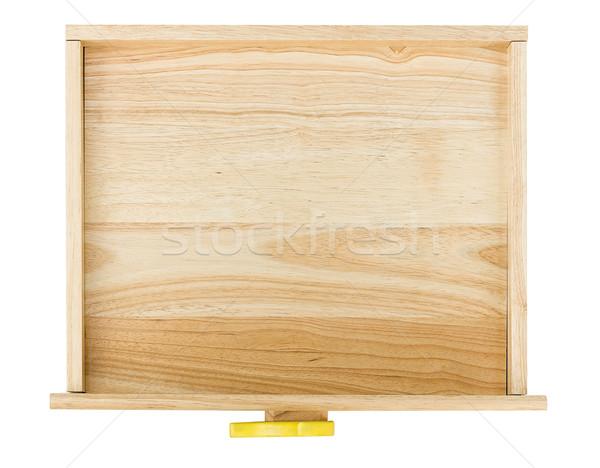 Сток-фото: пусто · выдвижной · ящик · изображение · изолированный · белый