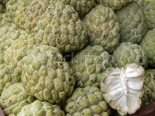 Suiker appel tropische thai vruchten mand Stockfoto © JohnKasawa