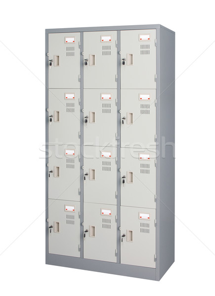 Stainless steel locker isolated  Stock photo © JohnKasawa