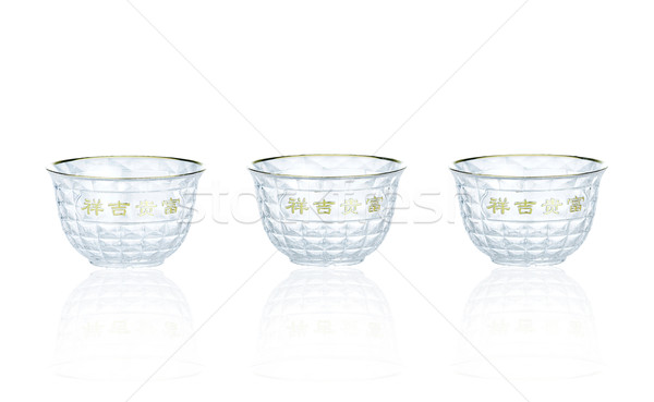 Chinese tea cup a symbolic of good fortune Stock photo © JohnKasawa