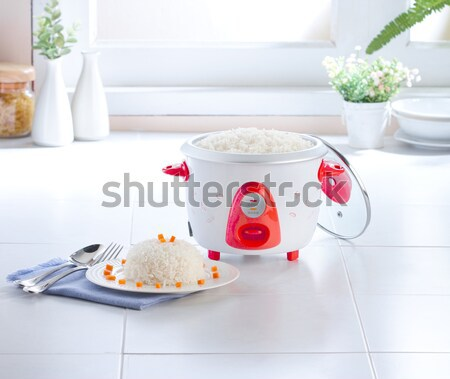Electric steaming pot prepairing food more easy at home Stock photo © JohnKasawa