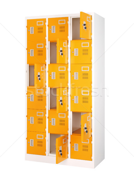 Beautiful and colorful locker in bright orange color  Stock photo © JohnKasawa